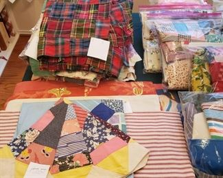 small quilt tops and pillow cases