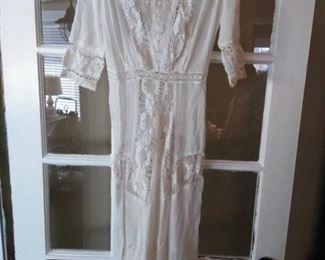 Beautiful handmade antique  dress.
