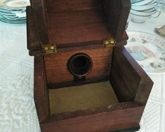 """1890s Antique American Masonic """"black ball"""" wooden ballot box with marbles"""