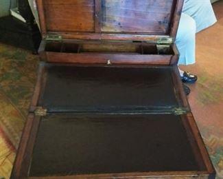 Rare 19th century portable lap secretary writing desk