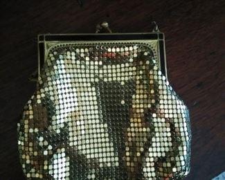 1930s art deco Whiting & Davis small mesh purse