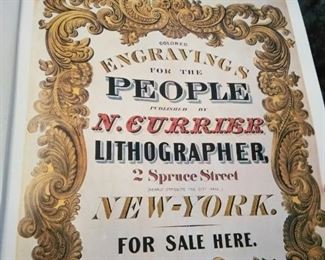 Large vintage Currier and Ives America book