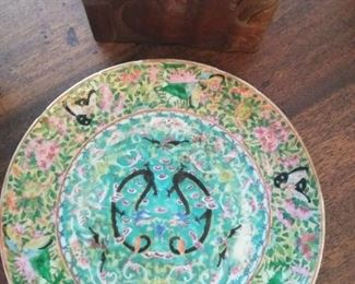 "Circa 1850s ""Famille Verte"" Chinese enamel bowl"