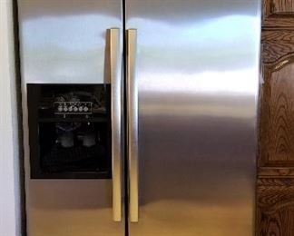 Whirlpool side by side refrigerator.