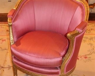 Pink Upholstered Provincial Chair