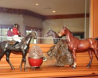 Small Horse Statuary and other Decorative Items
