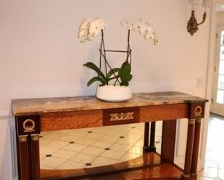 Console Table and Orchids