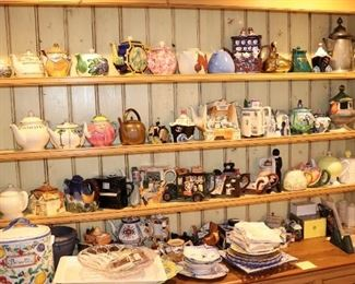 Extensive Tea Pot Collection