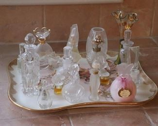 Perfume bottle and Tray