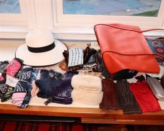 Women's Hats, Gloves, Scarves, Glasses Cases and Handbags