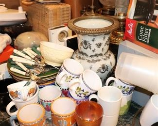 Assorted Mugs and other Household Items