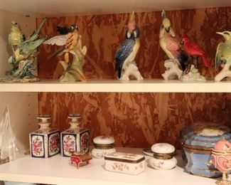 Decorative items Throughout - Variety of Bird Figurines