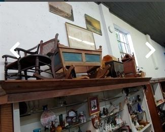 Antique cradles and more