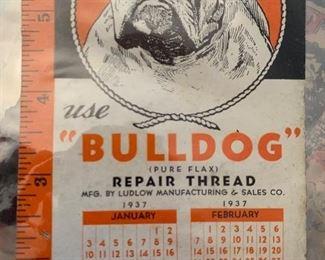 1937 calendar bulldog
