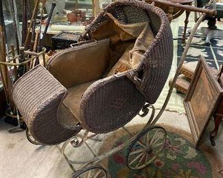 Beautiful old pram baby buggy