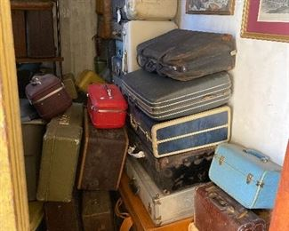 Take a look at all the vintage luggage