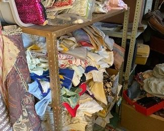 Cave selection of vintage Fabric and linens