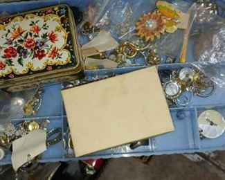We are going through tubs and tubs and boxes and jewelry boxes of jewelry for this sale! I'm finding some gorgeous Sterling jewelry & beautiful signed pieces