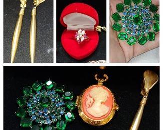 Huge huge massive epic selection of vintage costume jewelry