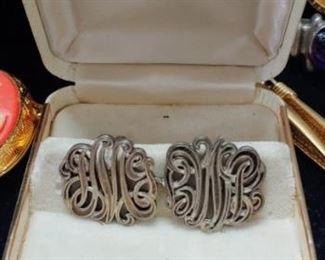 Fabulous vintage sterling silver cufflinks