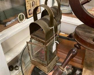 Antique English handheld lanterns
