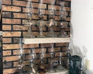 Glass Hurricane Lamps