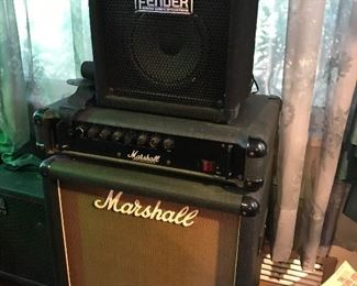 Vintage Marshall and Fender Amps