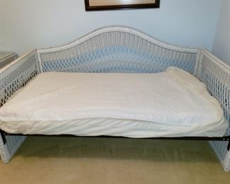 White wicker daybed