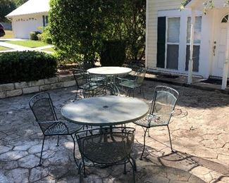 2 of several outdoor metal tables & chairs