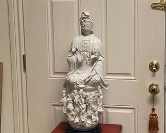 Intricate porcelain statue