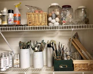Artist brushes and other supplies