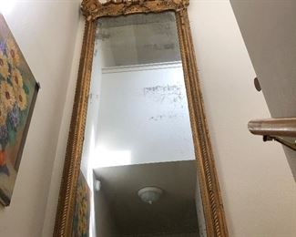 Antique Gold framed mirror- 3' x 10'    The story is that it is from the Waldorf Astoria in NY.