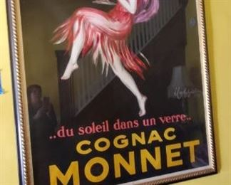 cognac monnet original ad poster from 1927