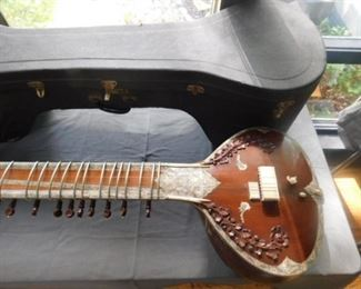 1970 Vintage Sitar, (Makhan lal roy) Inlay Mother of Pearl and Ivory