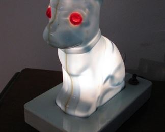 Antique Small Table Dog Lamp