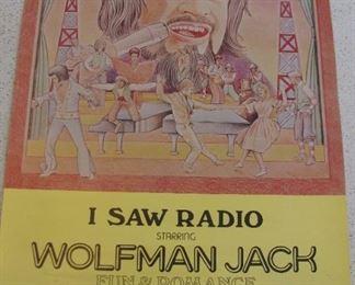 Wolfman Jack Advertisement Poster