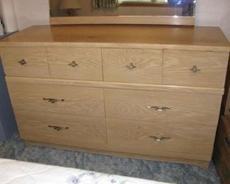 Fine Hardwoods Mid-Century Modern Dresser - Mirror