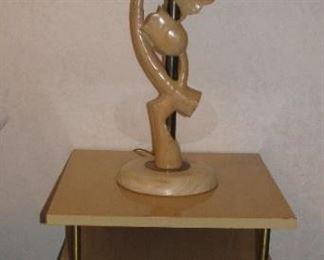 Mid-Century Modern Retro Table - Wood Tulip Lamp set of 2