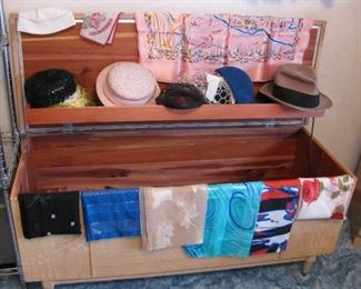 Cedar Chest - Vintage Hat's and Scarves