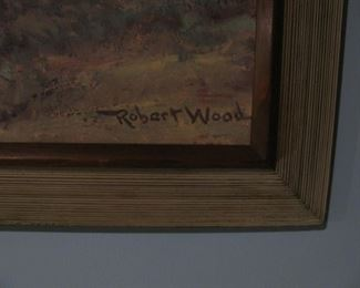 Robert Wood Signed Painting