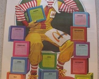 Ronald McDonald Calendar