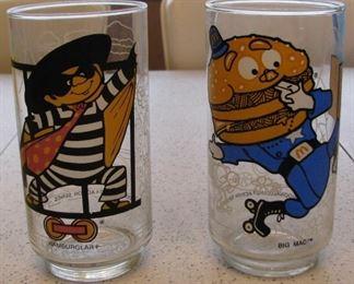 McDonald's Vintage Collectible Glasses
