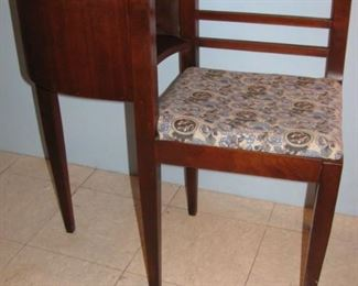 Vintage Mid Century Gossip Bench / Telephone Table Chair