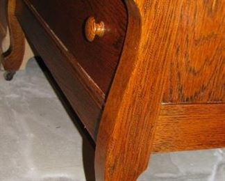 Antique Art Deco Curved Chest Drawers Dresser