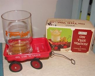 Antique Wagon  Cup - Snack Holder
