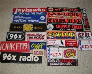Vintage Bumper Stickers - Unused