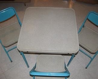 1950's  Children's Samsonite Table with Chairs