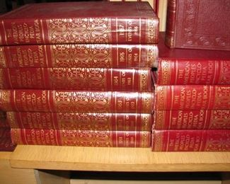 The American People's Encyclopedia Year Book Set 1957 to 1969 set - Nice Leather Bound Books!