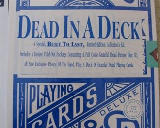 Sealed Grateful Dead Playing Cards - CD's and Poster