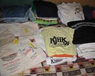 Vintage T Shirts - Old Flour and Sugar Sacks